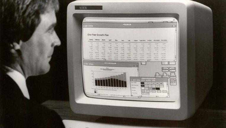 Xerox Star 8010 uit 1981: eerste commerciële grafische interface. Beeld