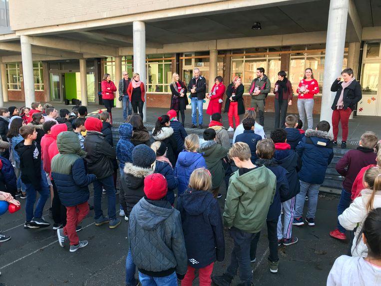Ook op de lagere school van Don Bosco in Halle werd Rode Neuzen Dag gevierd.