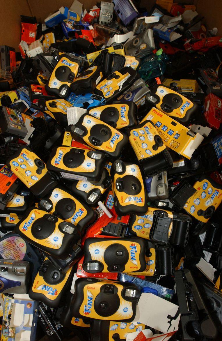 Kodak-wegwerpcamera's in 2005. © AFP Beeld