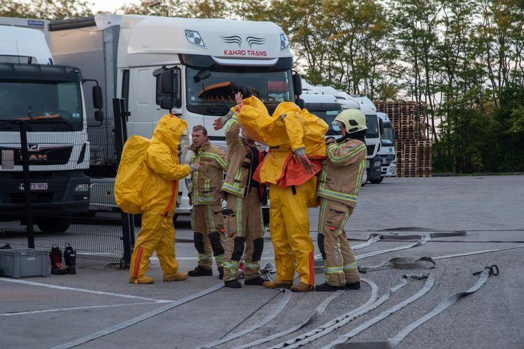 IGS team Wetteren ter plaatse bij chemisch incident Hamann.