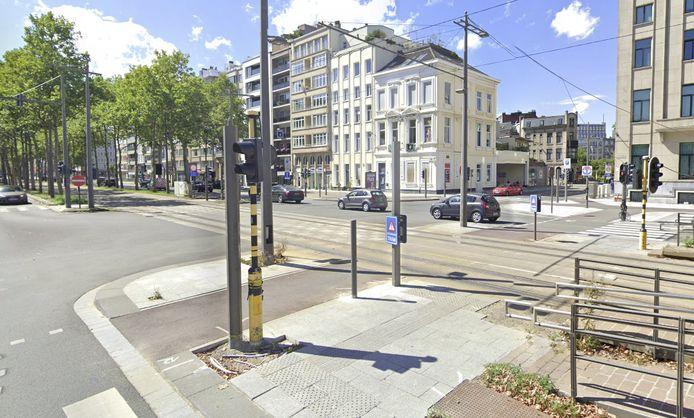 Het kruispunt van de Frankrijklei en de Stoopstraat.