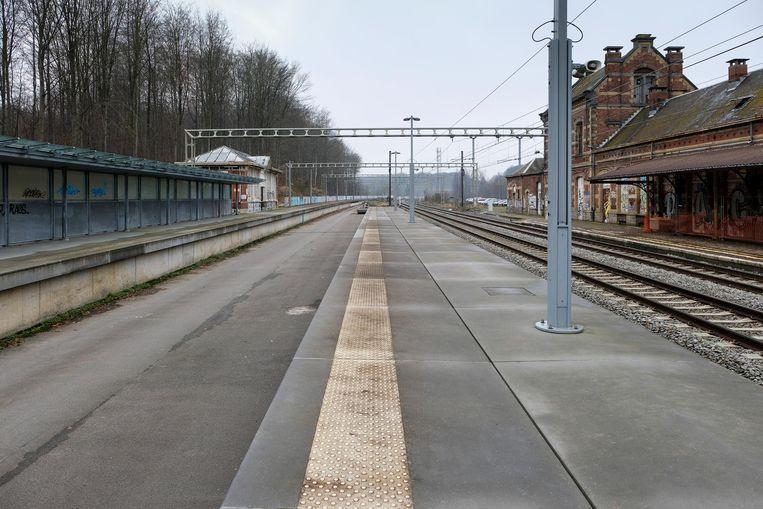 Onder meer in het station van Groenendaal zullen in de toekomst vier in plaats van twee treinen stoppen.