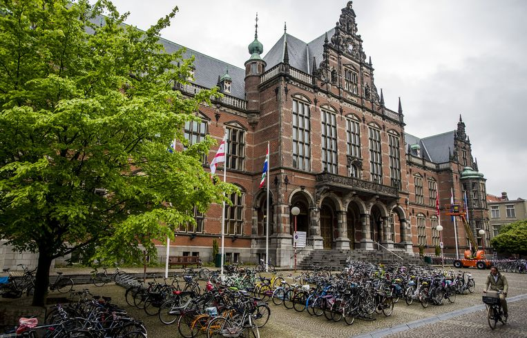 Exterieur van de Rijksuniversiteit Groningen. Beeld anp