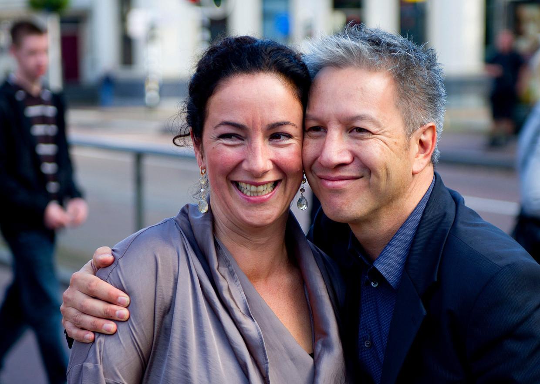 Burgemeester Halsema en haar partner Robert Oey.