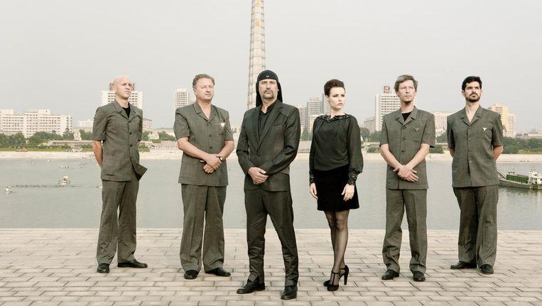 De Sloveense kunstrockband Laibach. Beeld