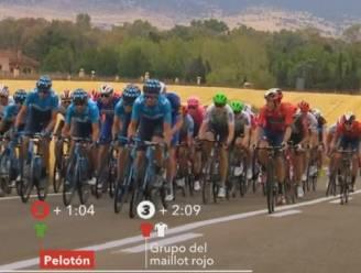 """Movistar zwaar aangepakt nadat het doortrok net wanneer Vuelta-leider Roglic tegen asfalt smakte: """"Idioten"""""""