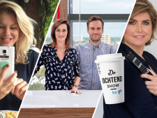 TV-columnist Angela de Jong en foodtrendwatcher Esther Haanschoten te gast in De Ochtend Show to Go