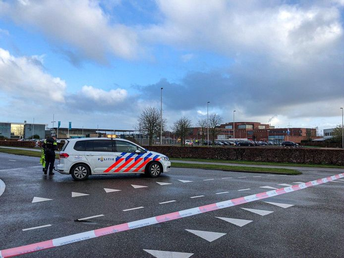 Het gebied is afgezet door de politie