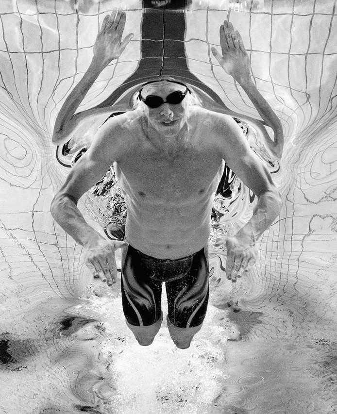 De Australische zwemmer Clyde Lewis.