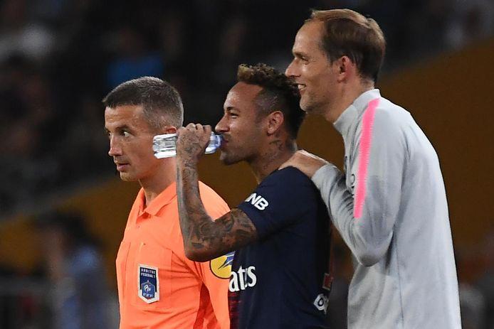 Thomas Tuchel (à droite) et Neymar