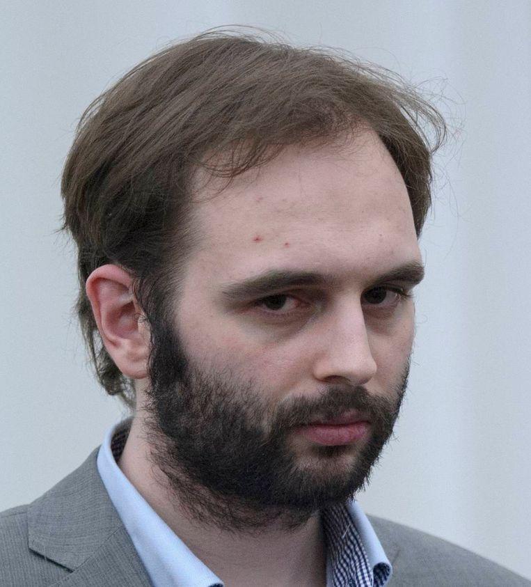 Kim De Gelder tijdens zijn proces.