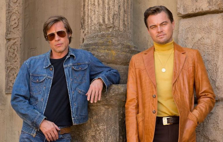 Brad Pitt en Leonardo Dicaprio in Once Upon a Time...  in Hollywood  Beeld null