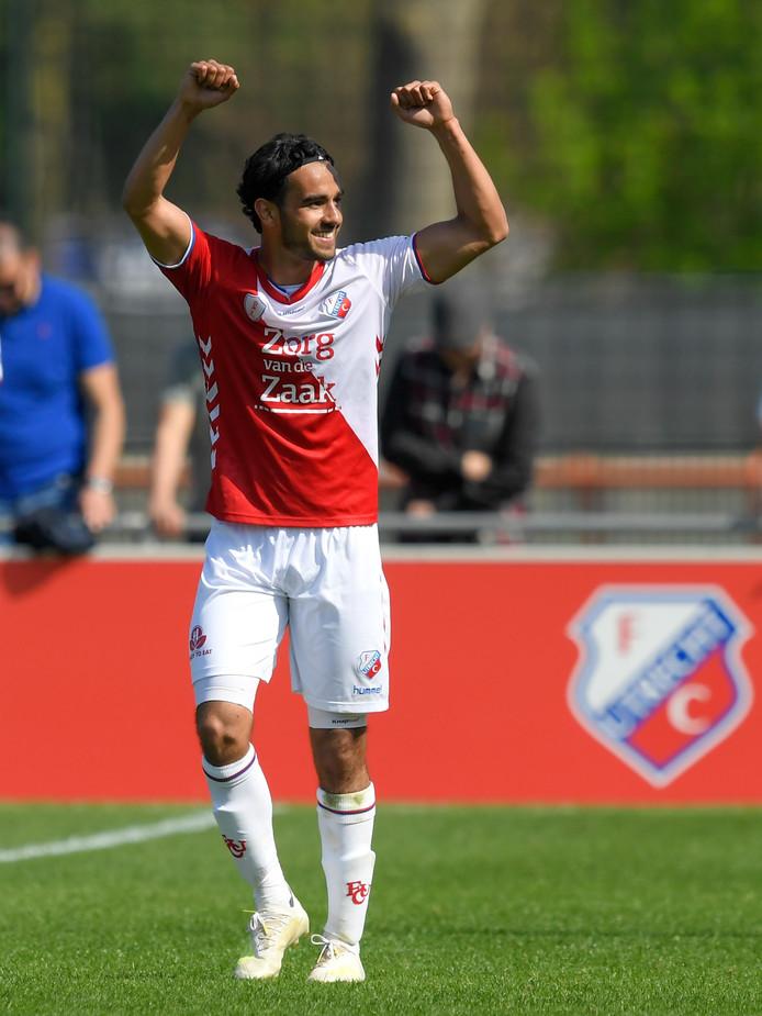 Mitchell van Rooijen speelde een uitstekende wedstrijd en scoorde de 3-1.