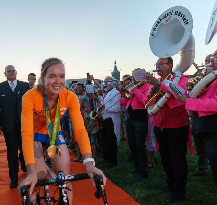De huldiging van olympisch kampioen Anna van der Breggen, vier jaar geleden in Hasselt.