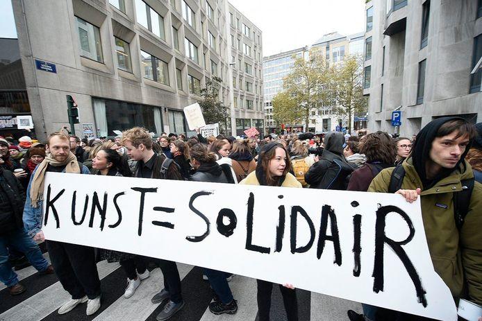 Manifestation au parlement flamand, jeudi, à Bruxelles