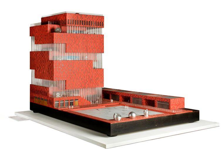 Maquette van Mas, Museum Aan de Stroom in Antwerpen. Beeld Karin Borghouts