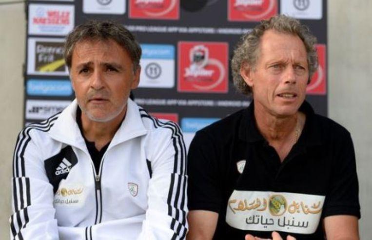 Emilio Ferrera met Michel Preud'homme in het Saoedi-Arabische Al Shabab.