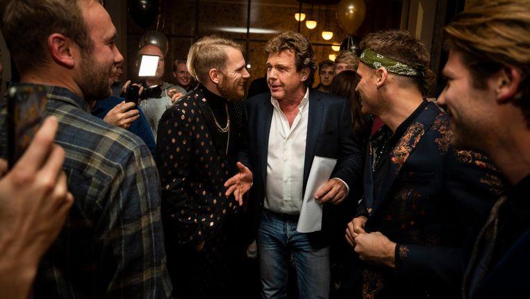 De aankopen van John de Mol zijn steevast reden voor een feestje, zoals hier bij StukTV. Beeld anp