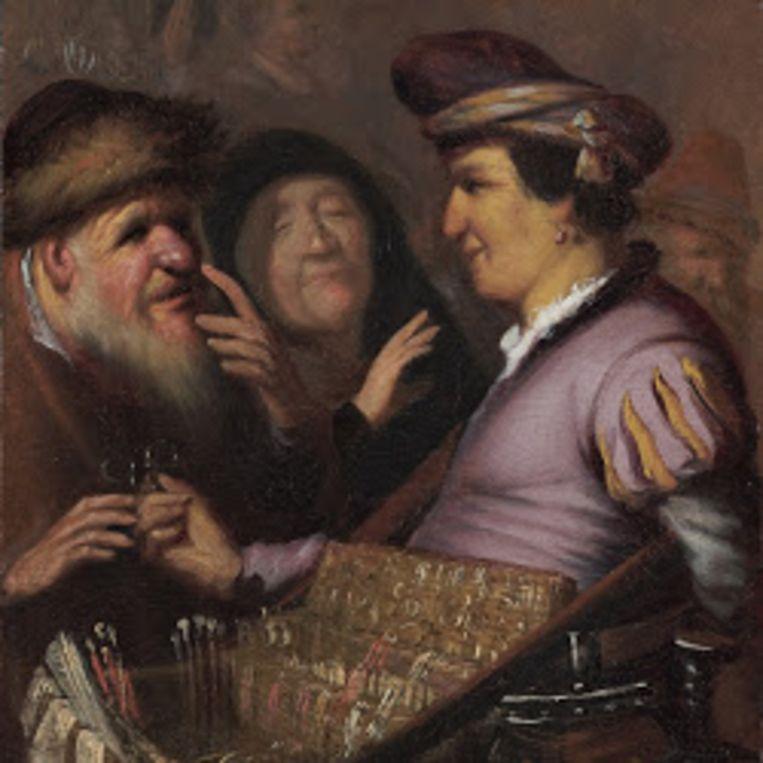Rembrandt van Rijn, Brillenverkoper (ca. 1624). Beeld  Museum De Lakenhal, Leiden