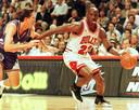 1997: Michael Jordan in actie.