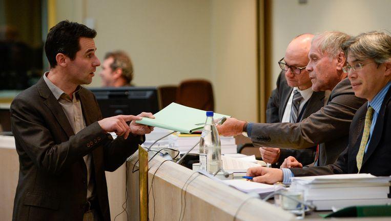 Archiefbeeld: Ecolo-Kamerlid Jean-Marc Nollet en commissievoorzitter Eric Van Rompuy.