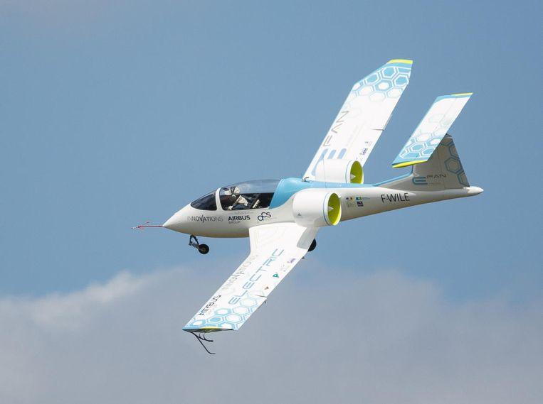 Elektrisch vliegtuig, E-Fan, van Airbus. Beeld .