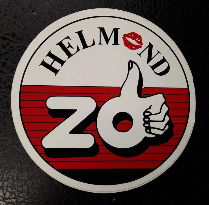 Het logo van Helmond Zo op een sticker.