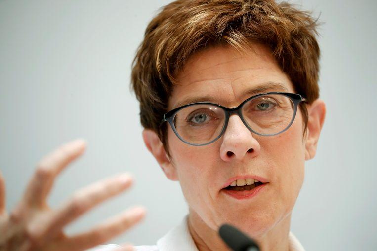 Annegret Kramp-Karrenbauer, voorzitter van de CDU/CSU  Beeld REUTERS