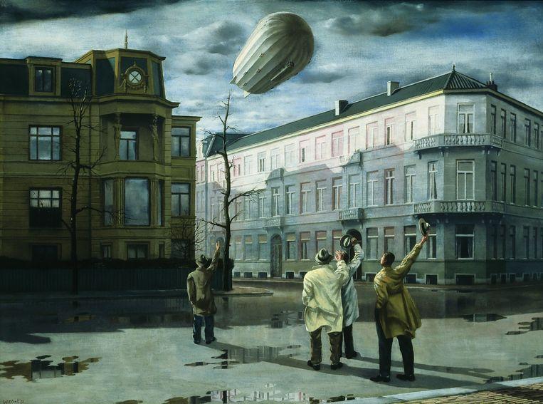 Carel Willink: De zeppelin (1933). Beeld Mw. Sylvia Willink