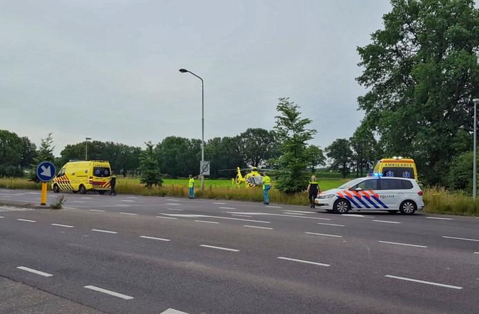 De hulpdiensten bij het azc in Oisterwijk.