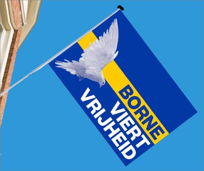 De vrijheidsvlag van Borne
