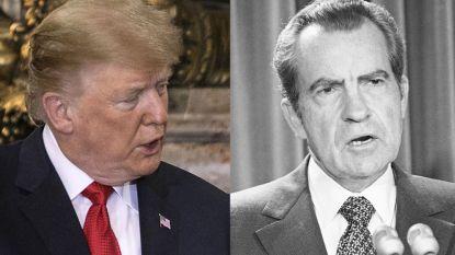 """Trump over parallellen met Nixon en Watergate: """"Hij vertrok. Ik doe dat niet"""""""