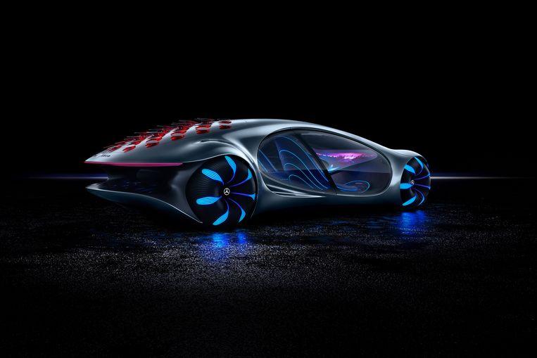 Het begin dit jaar op de CES getoonde studiemodel Mercedes-Benz Vision AVTR rijdt al op een organische batterij.
