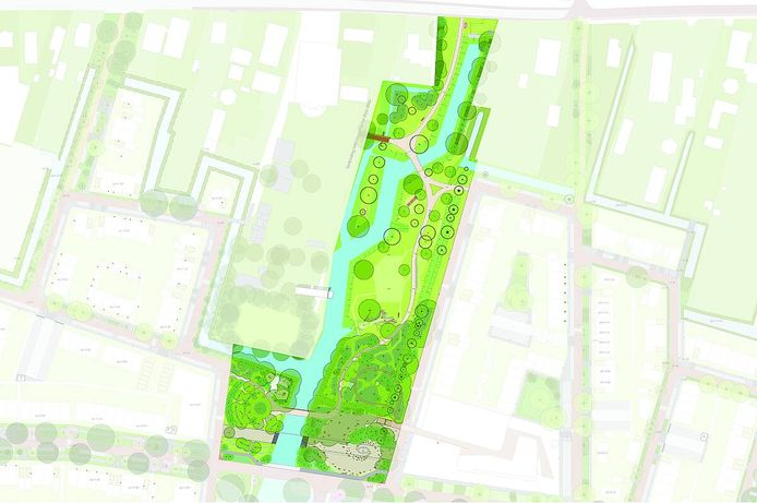 Zo uitgestrekt wordt het voedselbos in Rijnvliet.