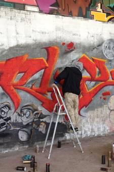 Hier kunnen we legaal bezig zijn met onze graffiti