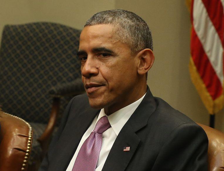 President van de Verenigde Staten Barack Obama. Beeld getty