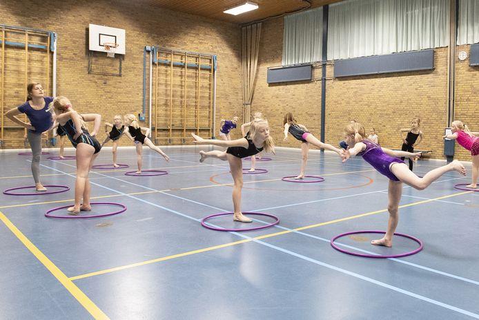 Een gymnastiekles. Foto ter illustratie.