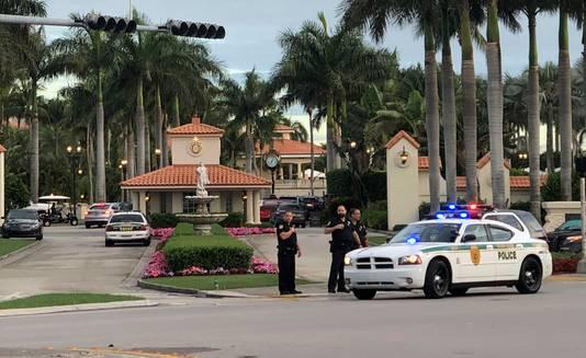 De politie hield een verdachte aan bij de Trump National Doral Golf Club.