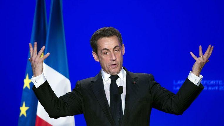 De Franse president Nicolas Sarkozy. Beeld afp