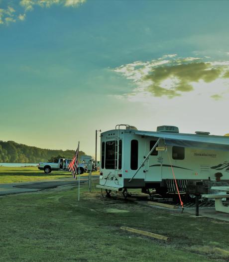De blues in een camper in het zuidoosten van de VS