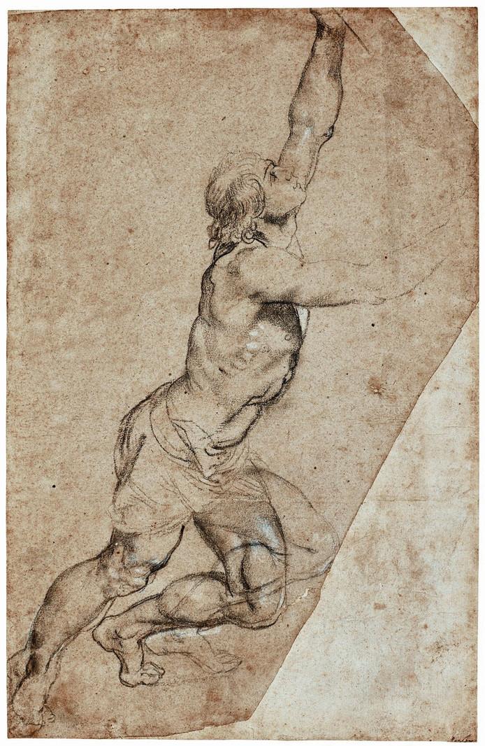 De veelbesproken krijttekening van Peter Paul Rubens die prinses Christina vandaag laat veilen in New York, tegen de zin van Nederlandse museumdirecteuren en politici.