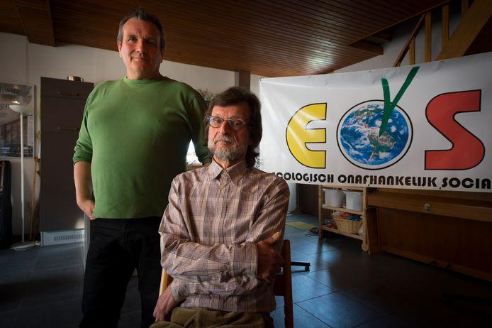 Jan Van de Ven en Hugo Lejon bij de voorstelling van hun nieuwe partij EOS