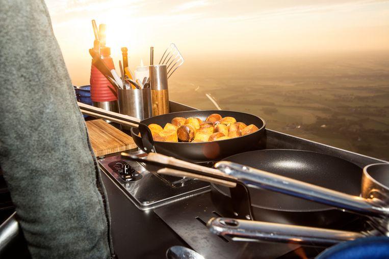 Luchtballonrestaurant CuliAir. Beeld Niels Blekemolen
