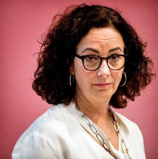 Burgemeester Halsema van Amsterdam.
