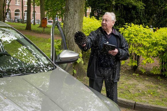 In Scherpenheuvel wordt ook nog autowijding gehouden.