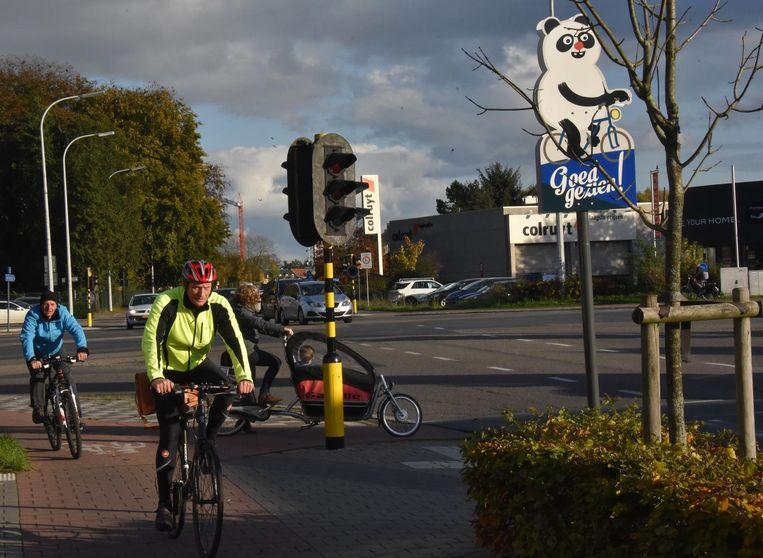 De fietsende panda van Humo-cartoonist Jeroom.