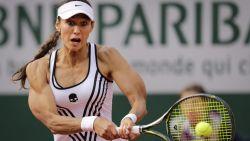 Ze sneuvelde al in eerste ronde, maar door dit beeld blijft tennisster over de tongen gaan