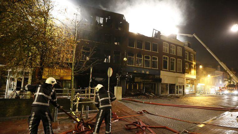 Het centrum van Leeuwarden staat in brand Beeld ANP