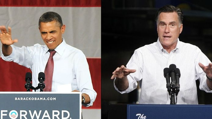 Barack Obama en Mitt Romney.