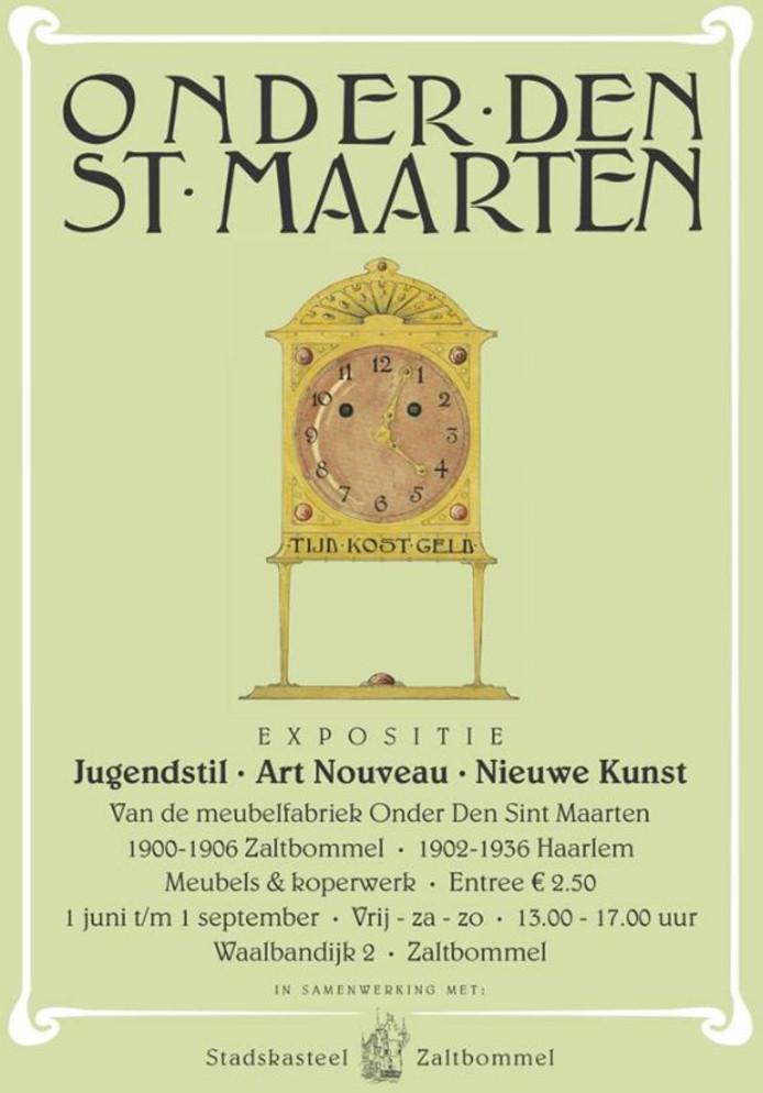 De poster van de expositie over Onder de Sint-Maarten, ontworpen door Kaasjager.